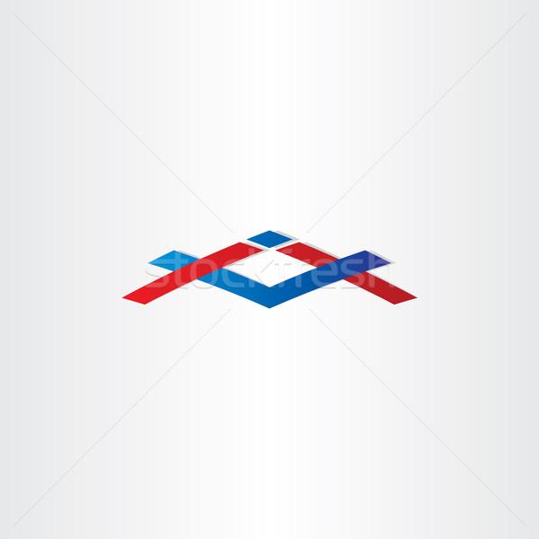 house construction icon abstract building sign Stock photo © blaskorizov