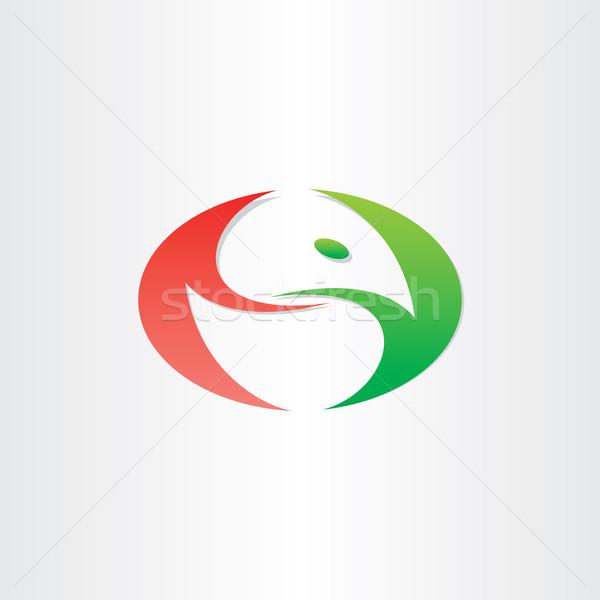 chicken in egg stylized symbol Stock photo © blaskorizov