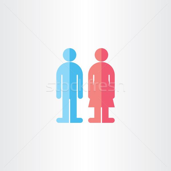 Hombre mujer WC vector símbolos diseno Foto stock © blaskorizov