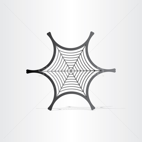 Preto teia da aranha símbolo abstrato fundo Foto stock © blaskorizov