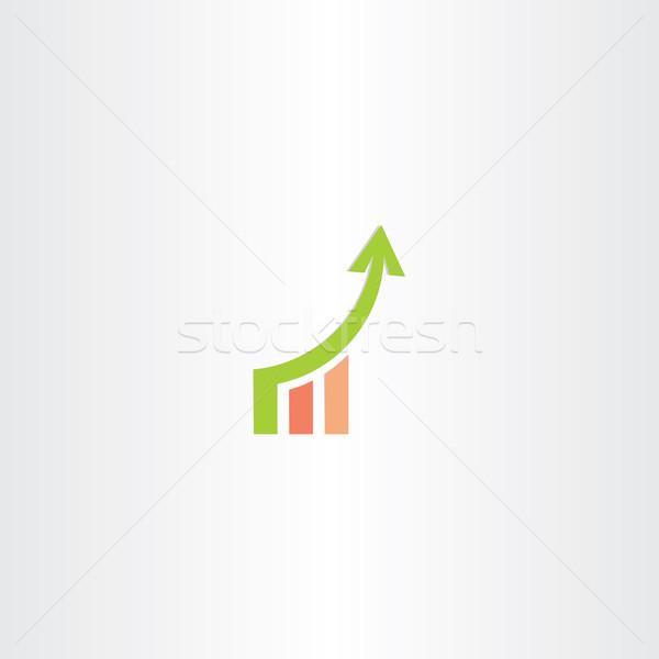 Crecimiento tabla icono diseno negocios Foto stock © blaskorizov