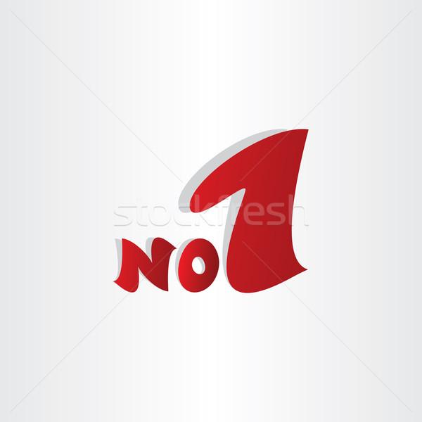 Nem legelső nyertes szimbólum bajnok embléma Stock fotó © blaskorizov