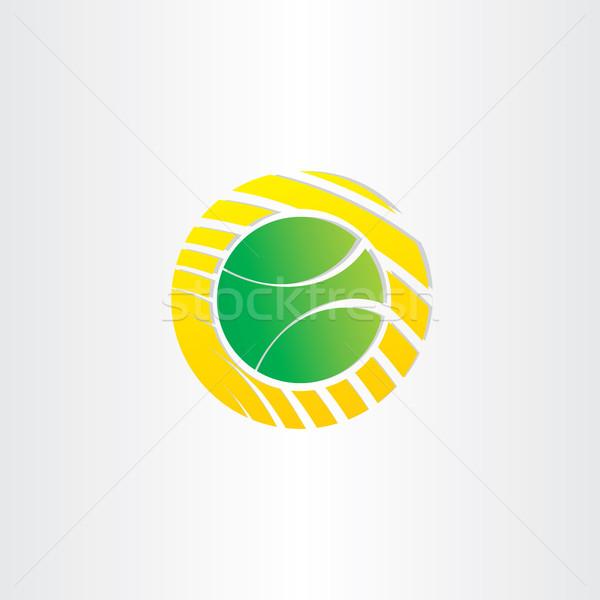 Tennisbal symbool ontwerp vector sport groene Stockfoto © blaskorizov