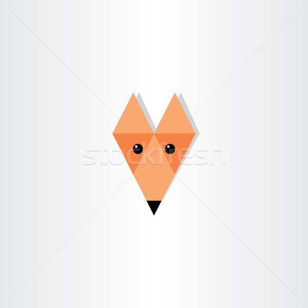 Róka fej ikon terv dizájn elem absztrakt Stock fotó © blaskorizov