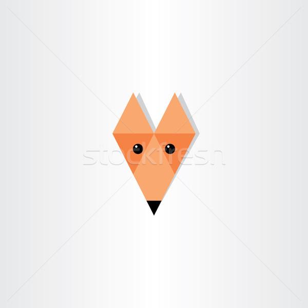 Fox голову икона дизайна аннотация Сток-фото © blaskorizov
