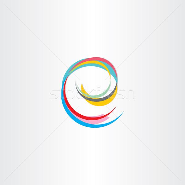 Stock photo: letter e colorful symbol