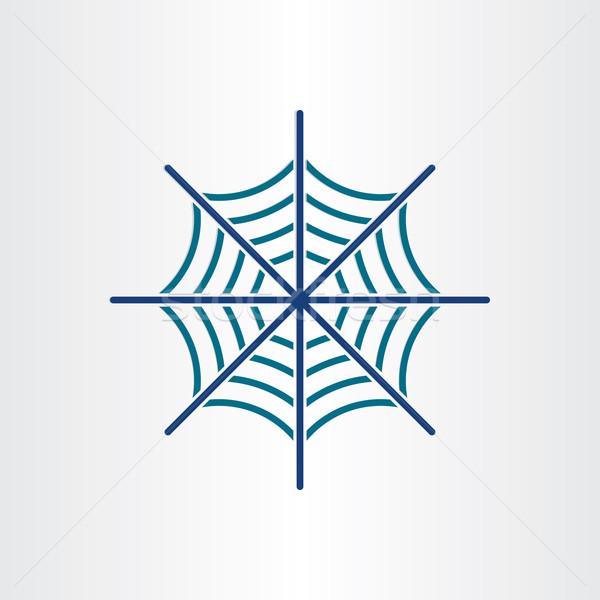 örümcek ağı hedef ikon dizayn web Stok fotoğraf © blaskorizov