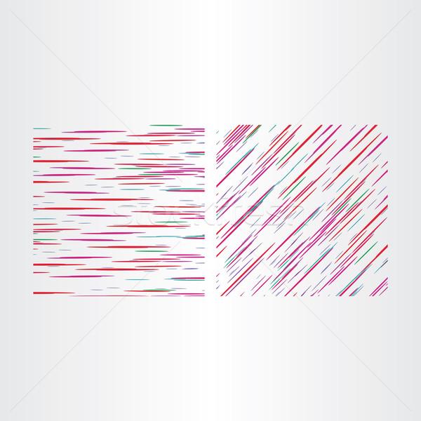 Dos color línea texturas textura tejido Foto stock © blaskorizov