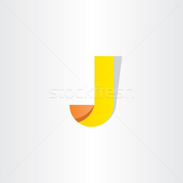 Yellow Letter J Symbol Design Logo J Vector Illustration C Blasko