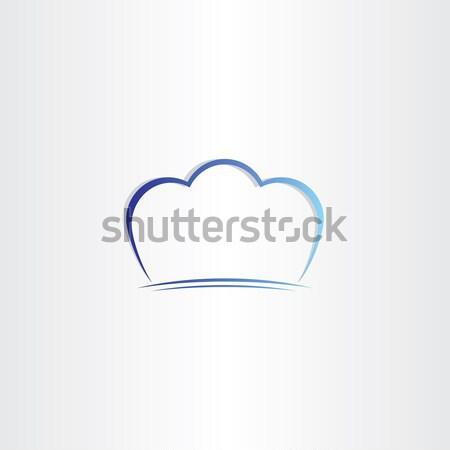 Szakács sapka stilizált szimbólum terv háttér konyha Stock fotó © blaskorizov