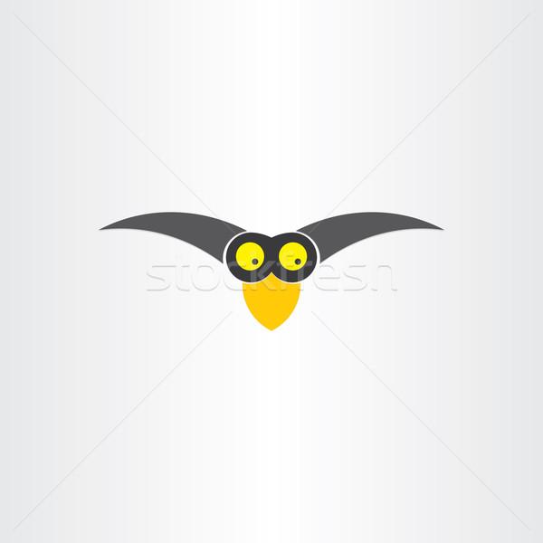 funny western jackdaw bird cartoon icon Stock photo © blaskorizov