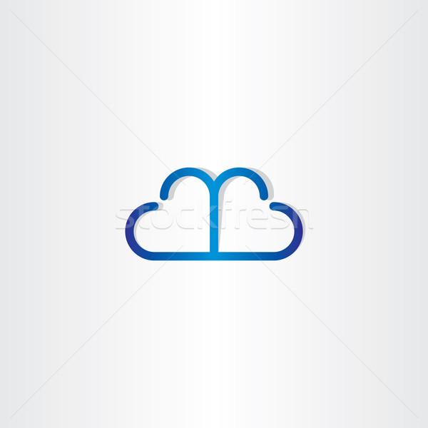 line cloud heart shape icon Stock photo © blaskorizov