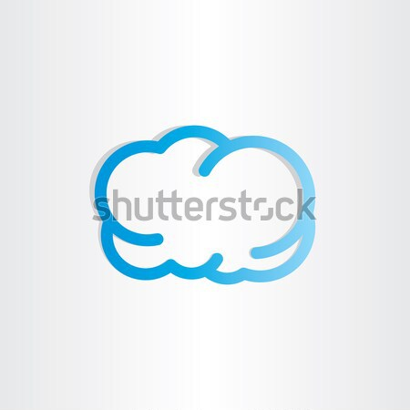 blue cloud icon design Stock photo © blaskorizov