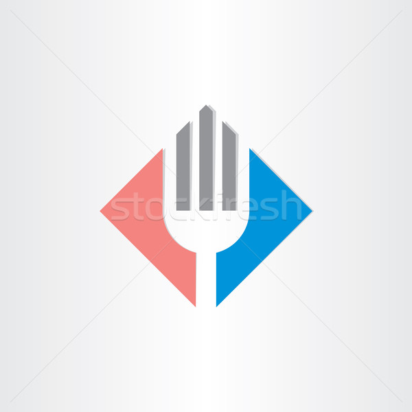 fork icon restorant catering symbol Stock photo © blaskorizov