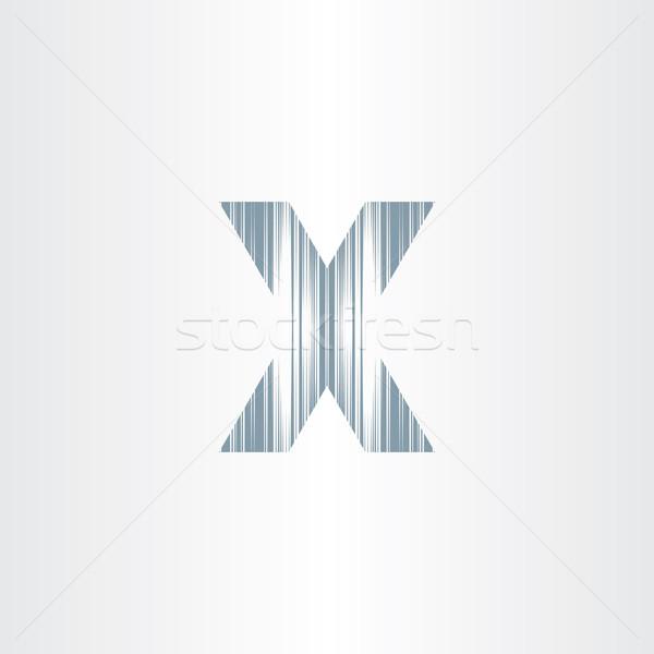 scratched letter x symbol Stock photo © blaskorizov