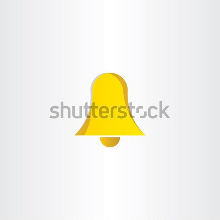 yellow ringing bell icon Stock photo © blaskorizov
