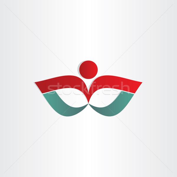 man exercise flower shape symbol Stock photo © blaskorizov