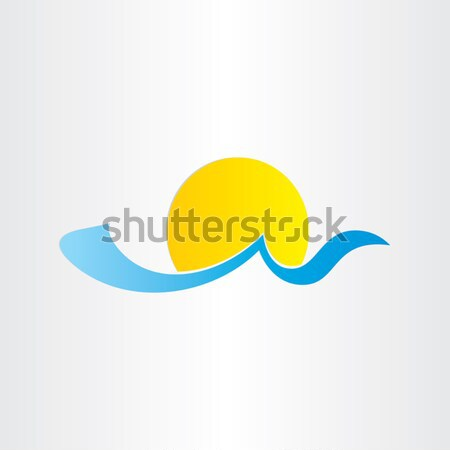 sun and sea wave summer water icon Stock photo © blaskorizov