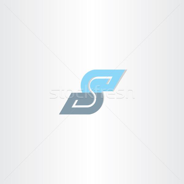 青 アイコン 手紙 ロゴタイプ ベクトル デザイン ストックフォト © blaskorizov