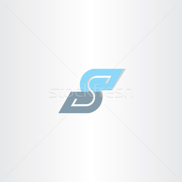 blue icon letter s logotype vector design Stock photo © blaskorizov
