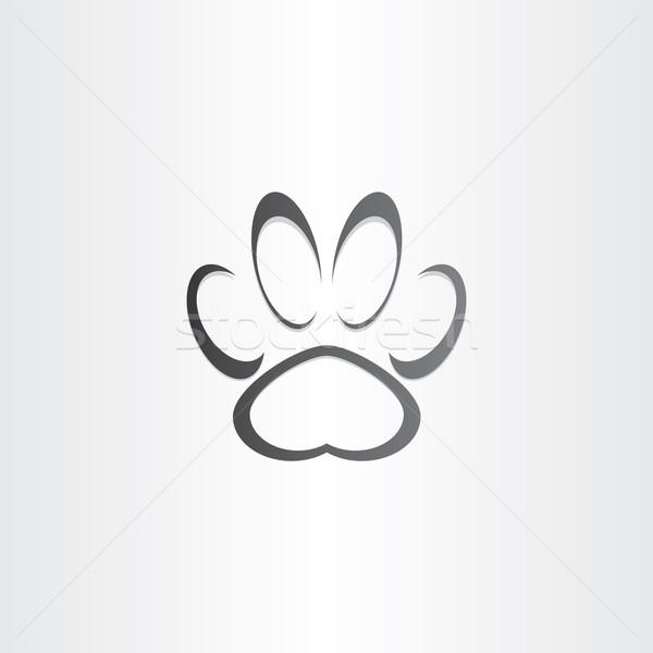 Perro huella estilizado icono diseno signo Foto stock © blaskorizov