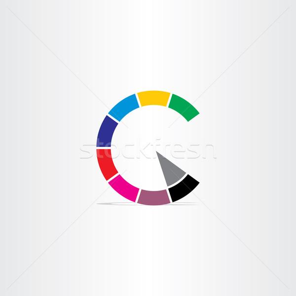 手紙c 色 著作権 シンボル アイコン デザイン ストックフォト © blaskorizov