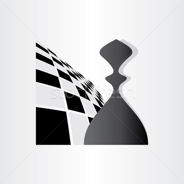 échecs symbole pion design résumé icône Photo stock © blaskorizov