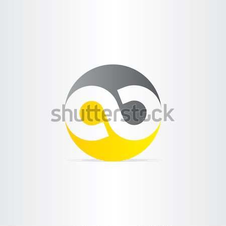 Czarny żółty symbol nieskończoności tle kolor Zdjęcia stock © blaskorizov
