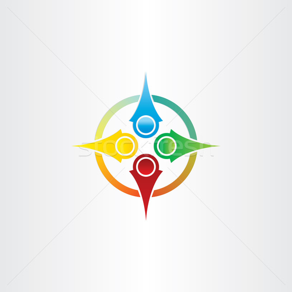 color compass arrows symbol Stock photo © blaskorizov