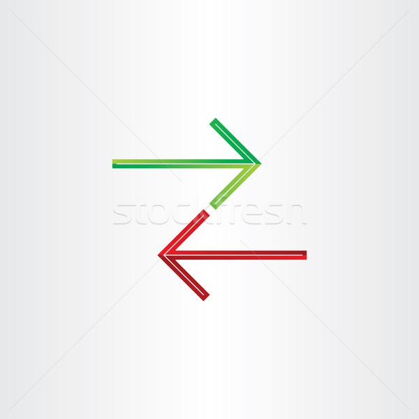 two arrows direction symbol Stock photo © blaskorizov