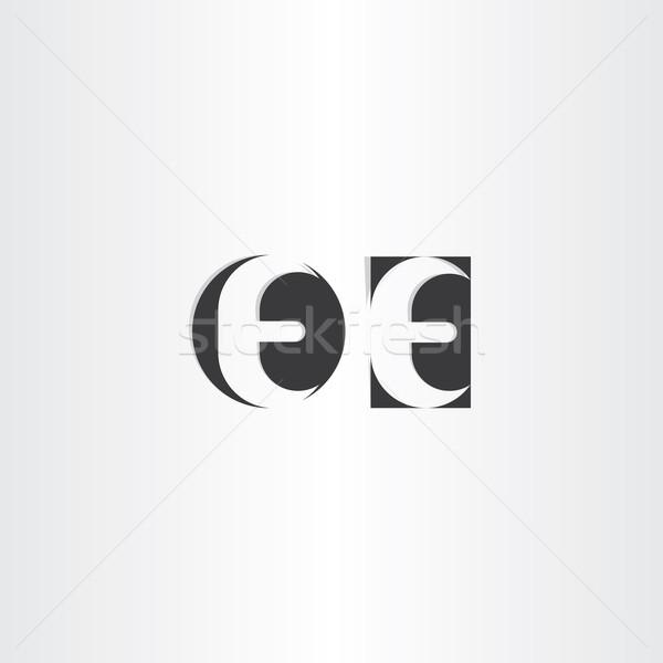 black letter e icons logotype Stock photo © blaskorizov