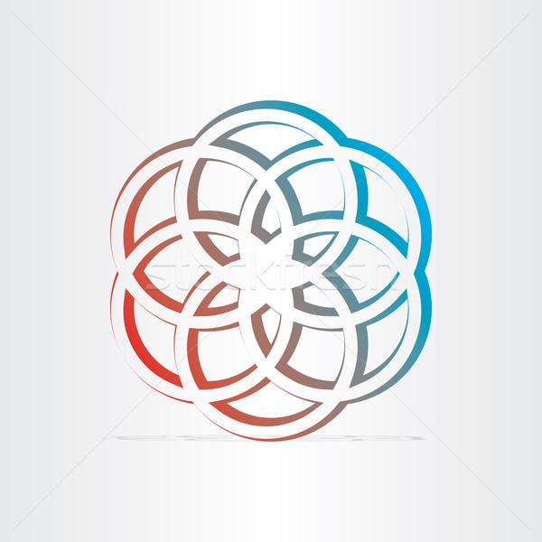 Geométrico estrellas símbolo diseno negocios resumen Foto stock © blaskorizov