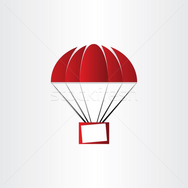Parachute bericht vak luchtpost brief evenement Stockfoto © blaskorizov