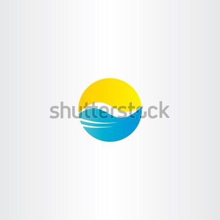 Stockfoto: Water · golf · zon · vector · toerisme · logo