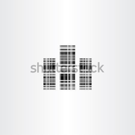 Stilize binalar soyut ikon dizayn vektör Stok fotoğraf © blaskorizov