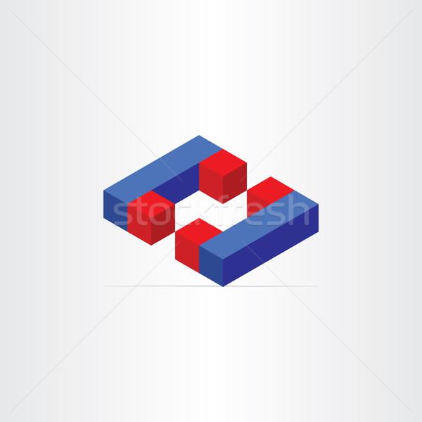 3D magneti lettera c icona campo Foto d'archivio © blaskorizov