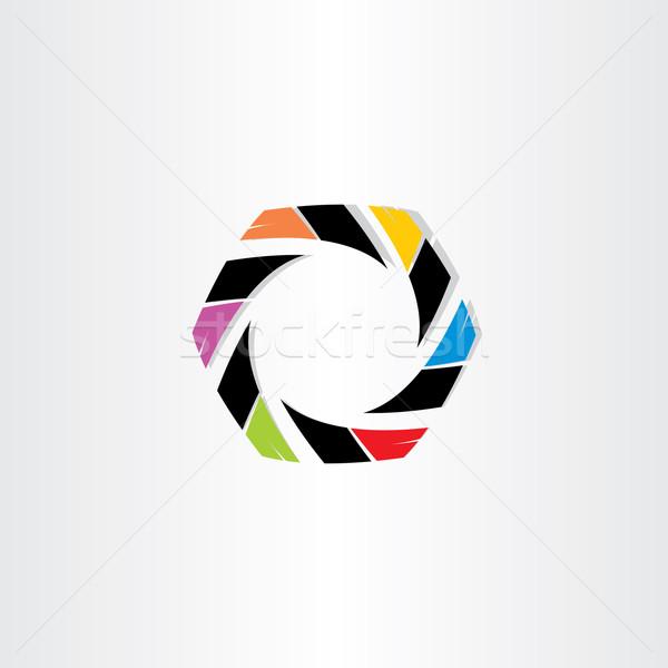 Abstrato hexágono negócio ícone projeto escritório Foto stock © blaskorizov