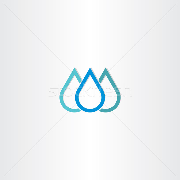 blue natural drop of water icon element Stock photo © blaskorizov