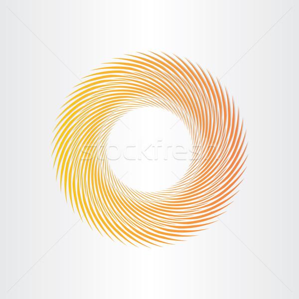 Citromsárga absztrakt kör terv fény felirat Stock fotó © blaskorizov