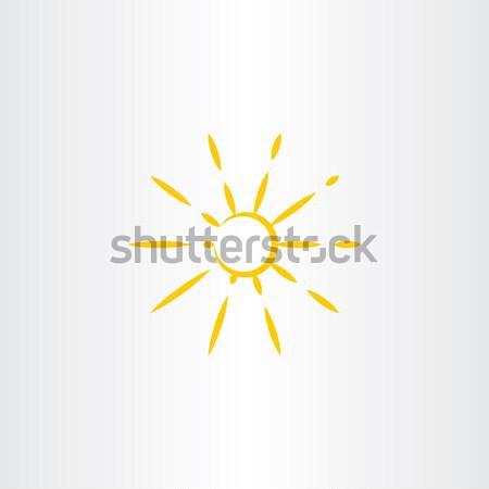 abstract yellow stylized sun vector icon Stock photo © blaskorizov