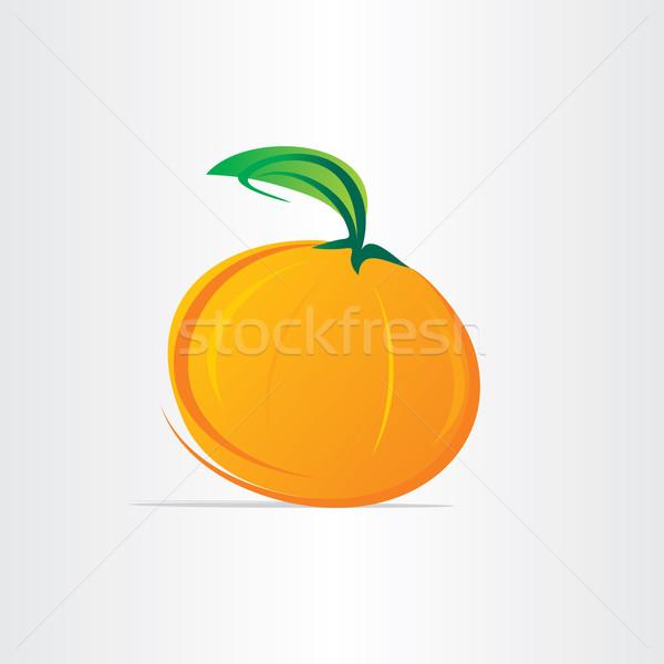 orange fruit juice vector design Stock photo © blaskorizov