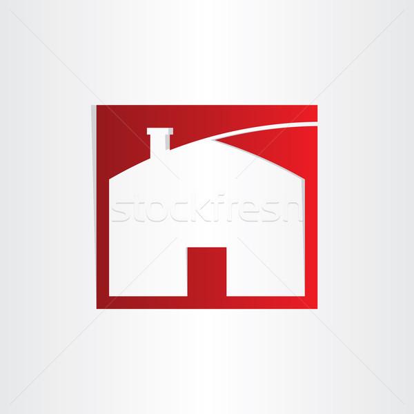 Słodkie domu ikona projektu budować strona główna Zdjęcia stock © blaskorizov