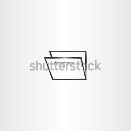 会計 フォルダ 黒 ベクトル アイコン シンボル ストックフォト © blaskorizov