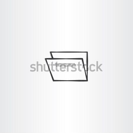 Rechnungslegung Ordner schwarz Vektor Symbol Symbol Stock foto © blaskorizov