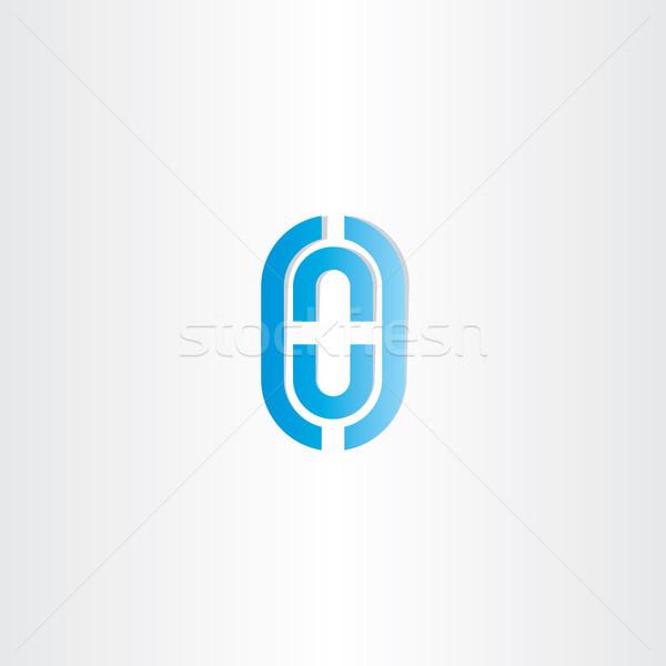 Kék o betű vektor logo logoterv iroda Stock fotó © blaskorizov