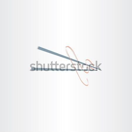 Stock photo: chinese noodles spaghetti icon