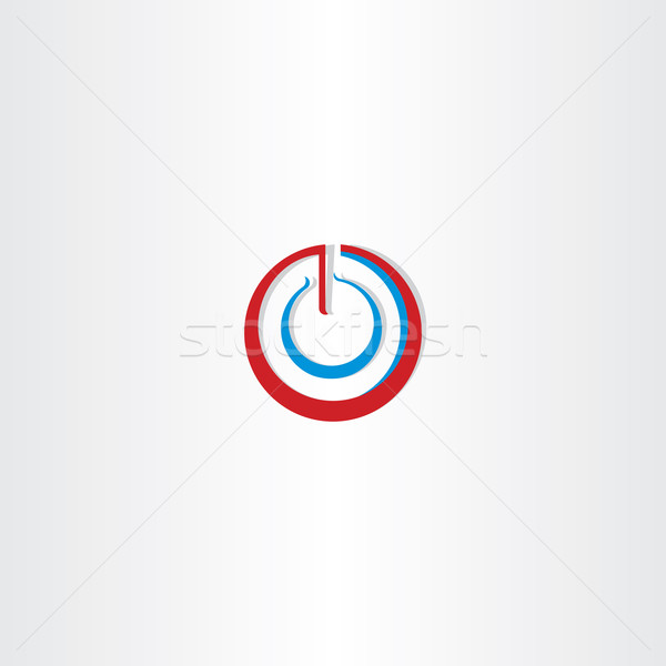power on off stylized symbol Stock photo © blaskorizov