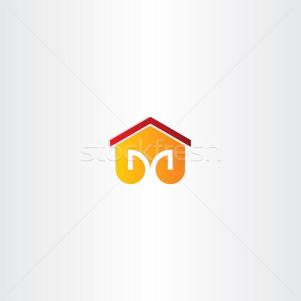 letter m house building icon Stock photo © blaskorizov