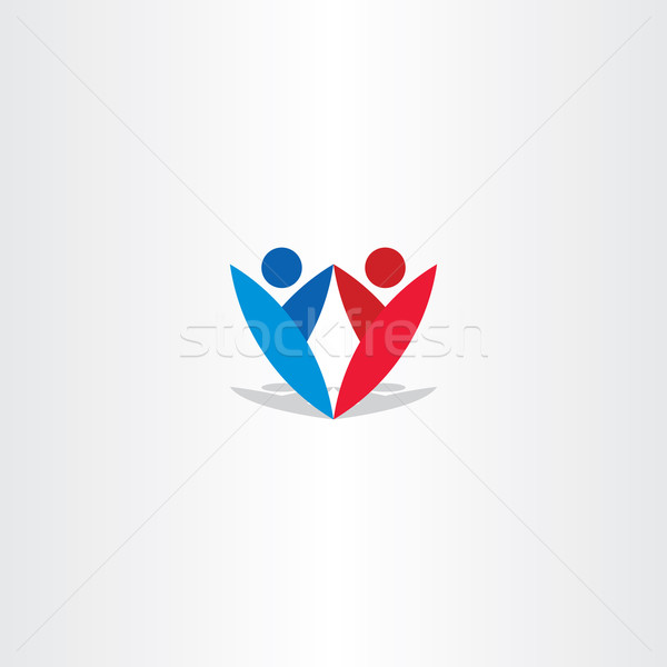 red blue people letter y logotype Stock photo © blaskorizov