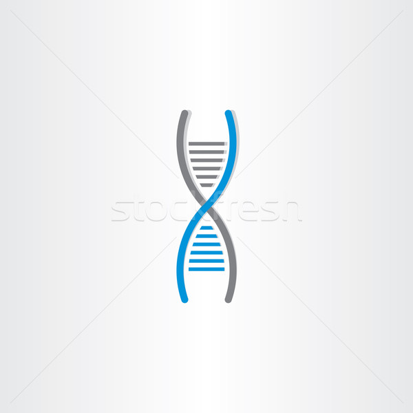 DNA vector symbol deoxyribonucleic acid icon Stock photo © blaskorizov